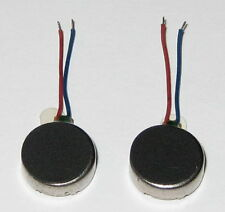 2 X Vibrator Flat Micro Motor - 1 to 3.6 VDC - Cellphones Beepers Mini Vibrators