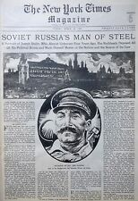 RUSSIA LENIN STALIN SCIENCE COSMOS MARS JULES VERNE ARIMA 3-1930 March 23 TIMES
