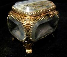 French Ormolu & Glass 1909 Imperial International Exhibition London Casket Blue