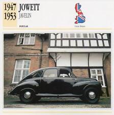 1947-1953 JOWETT JAVELIN Classic Car Photograph / Information Maxi Card