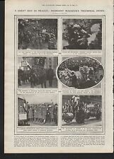 1919 A GREAT DAY IN PRAGUE PRESIDENT MASARYKS TRIUMPHAL ENTRY CZECH- SLOVAK