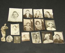 Antique Vtg Photograph Lot Photo Booth Snapshot Studio Small Photo Collection