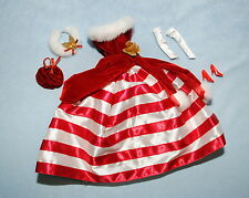 RED & WHITE Stunning Holiday Winter BARBIE Formal w/ Head Band Purse & Heels