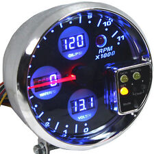 "5"" DIGITAL RPM TACHOMETER METER GAUGE WATER TEMPERATURE/OIL PRESSURE/VOLTAGE W8"