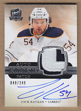 11-12 2011-12 The Cup Rookie Zack Kassian 2C, 3C-Break Jersey Patch Auto RC /249