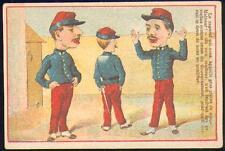 Chromo Charles Netter Rouen soldat armée 1871 militaire guerre humour