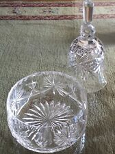 Star of Edinburgh, Scotland hand cut crystal, Set of small bowl and bell