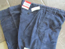 NEW IZOD NAVY BLUE CORDUROY PANTS MENS 34X34 STRAIGHT FIT FREE SHIP