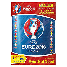 Panini uefa euro 2016 france autocollant collection starter pack album + 31 autocollants