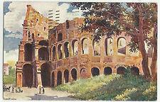 82887 ANTICA CARTOLINA DI ROMA COLOSSEO ARTISTICA
