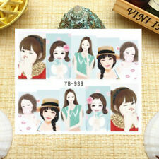 Nail Art Manicure Water Transfer Decal Sticker Lovely Girl YB939