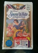Walt Disney Masterpiece Collection Snow White And The Seven Dwarves VHS Stickers