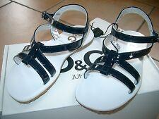 (Z90) Dolce & Gabbana Girls Schuhe Riemchen Sandalen mit Logo Gummi Sohle gr.30