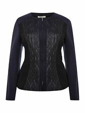 Bnwt RRP £199 Persona Women's Cortesia Scuba Panel Black Jacket UK 14 (B5)