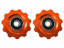 New MTB Road Bike Derailleur Jockey Wheel Solid Pulley Shimano 11T Orange