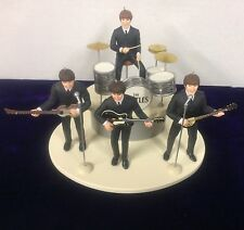 BEATLES ED SULLIVAN FIGURE SET OF 4 WITH INSTRUMENTS ON STAGE NEW IN BOX