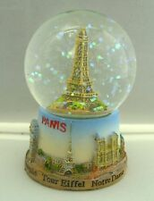 Eiffel tower small snow globe Paris souvenirs of France