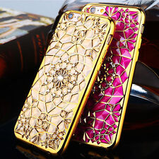 Soft Glitter Flower Luxury Phone Case Back Cover Protect Apple iPhone 7 Gold