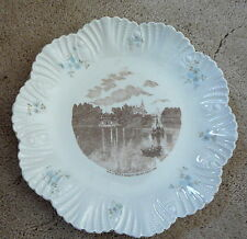 "CLEVELAND OHIO OH - WADE PARK & ADELBERT COLLEGE - ANTIQUE CHINAWARE PLATE 8"" EX"
