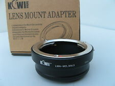 Kiwi Adapter  LMA - MD - M4/3 MICRO FOUR THIRDS NEW IN BOX MINOLTA TO OLYMPUS