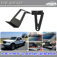 52 Inch Curved Straight LED Light Bar Mounting Brackets For 99-15 Ford F250
