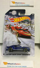 '10 Ford Shelby GT500 Supersnake BLUE * Holiday Rods * 2015 Hot Wheels * n155