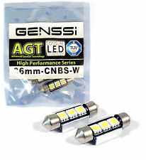 "(2) Xenon White 3-SMD 1.50"" 36mm 6418 C5W LED Bulbs For Car License Plate Light"
