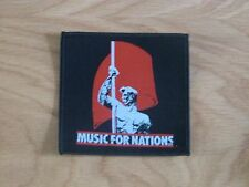 MUSIC FOR NATIONS - LOGO (NEW) SEW ON W-PATCH OFFICIAL BAND MERCH