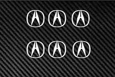 Acura logo 6X sticker decal hub cap wheel cover rim center jdm tl cl rsx A