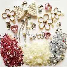 alloy bow flowers deco den kit  diy cellphone case crystal  rhinestone flatback