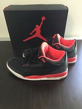Retro Nike Air Jordan III 3 Joker Black Crimson Cement Size 12 With Box