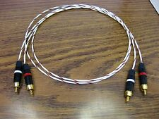 20 AWG RCA Audio Interconnect Cables 1 meter Silver Plated PTFE Wire New