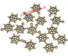 10pz charms ciondoli TIMONE   20x15mm  colore bronzo bijoux