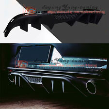 Rear Diffuser Bumper Trunk Lip Spoiler Canard Wing for Ford Mustang 2015-2017