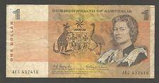 Australia 1 Dollar N.D. (1966); VG+; P-37a; L-B205a; Aboriginal artwork