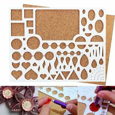 Paper Quilling Template Board DIY Scrapbooks Papercraft Quil Tool 210x170x8mm