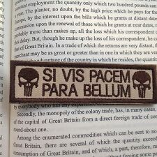 New USA SI VIS PACEM PARA BELLUM PUNISHER TACTICAL ISAF MORALE SWAT PATCH