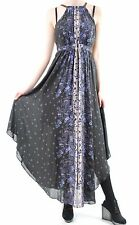 Free People Women's Party Maxi Dress Open Back Straps Midnight Size XS BCF511