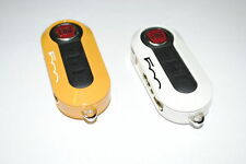 Fiat 500 Remote Key Covers Sprayed Gloss Type White Yellow New Genuine 50926870