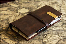 Vintage Brown Leather Journal Traveler's Notebook Refillable handmade notebook