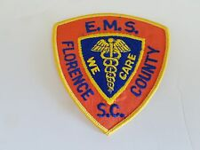 FLORENCE S.C. Emergency Medical Services Patch