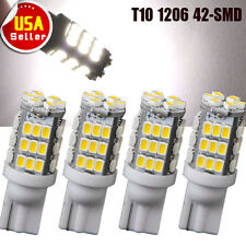 4x Pure White T10 921 194 W5W RV Trailer 42-SMD LED Backup Reverse Light Bulbs