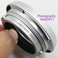Metal Lens Hood for Leica 12504 Summilux Summicron M 35mm 1:1.4 1:2 Lens Silver