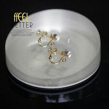 Clips a Vis Pour DIY Boucles d`Oreilles Doré Strass Cristal Retro Style Original
