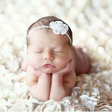 3D  White Rose Flower Newborn Baby Photography Props Backdrop Beanbag Blanketrug