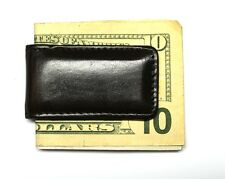 Super Strong Magnetic Moneyclip - Dark Brown Leather - New