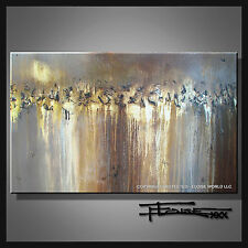 ABSTRACT PAINTING CANVAS WALL ART 48in Large Listed by Artist signed...ELOISExxx