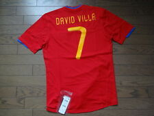 Spain #7 David Villa 100% Original Soccer Jersey Shirt M 2010 Home Still BNWT