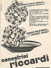 W8973 Canestrini RICCARDI - Pubblicità del 1958 - Vintage advertising