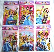 24 Set Disney Princess Coloring Book 96 Crayon Girls Party Favor Bag Fillers